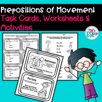 ESL Prepositions of movement- Flashcards & Worksheets