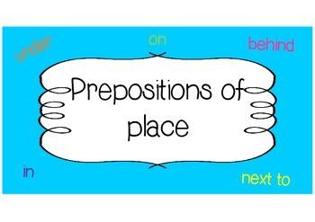 Fun prepositions game