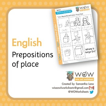 Prepositions of places