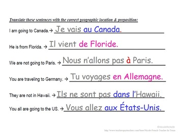 Prepositions with Geographic Locations: French Quick Lesson