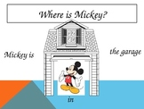 Prepositions with Mickey