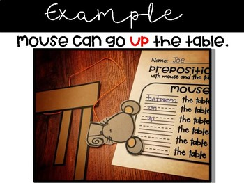 Prepositions with Mouse and the Table