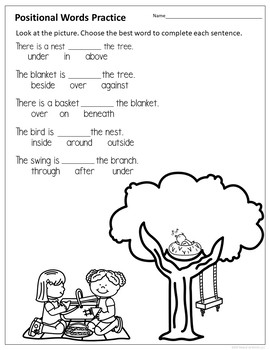 positional words activities by resource ranch teachers pay teachers