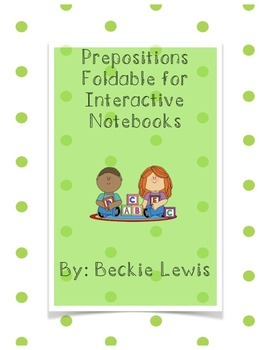 Prepostion Interactive Notebook