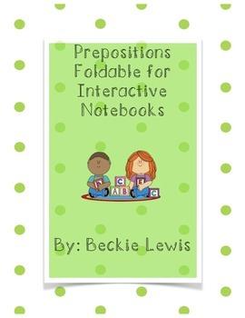 Prepostion Interactive Notebook