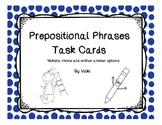 Prepostional Phrases Task Cards