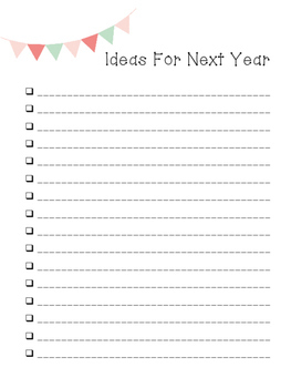 Prepping Lists for Back to School