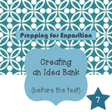 Expository Essay Preparation: Creating an Idea Bank for ST