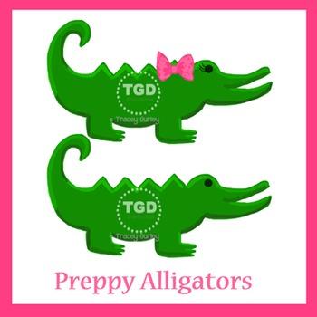 Preppy Alligators - Original art download Printable Tracey