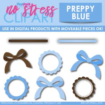 Preppy Blue Design Elements (Digital Use Ok!)