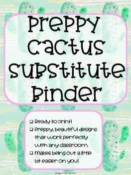 Preppy Cactus Theme Substitute Binder