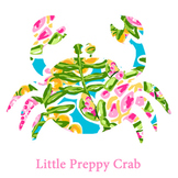 Preppy Crab Clip Art
