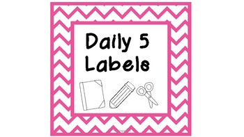 Preppy DAILY 5 Labels