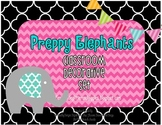 Preppy Elephant Classroom Decorative Set