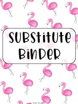 Preppy Flamingo Substitute Binder