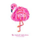 Preppy Flamingo clip art, pink and orange - Tracey Gurley Designs