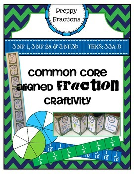 Preppy Fractions Craftivity by Marvel Math