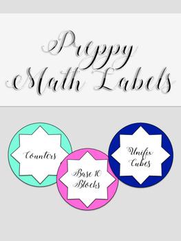 Preppy Math Manipulatives Labels
