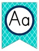 Preppy Nautical Classroom Theme Alphabet Pennant Banners
