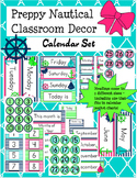 Preppy Nautical Classroom Theme Calendar Set