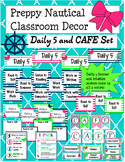 Preppy Nautical Classroom Theme Daily 5 and CAFE Set