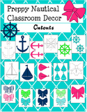 Preppy Nautical Classroom Theme Decorative Cutouts