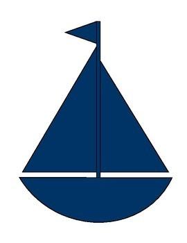 Preppy Nautical Classroom Theme Decorative Cutouts