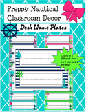 Preppy Nautical Classroom Theme Desk Name Plates