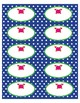 "Supplies Drawer Labels in Preppy Crab theme - 4""x2"""