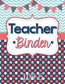 Teacher Binder Cover/Inserts Editable: Preppy Nautical