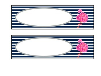 Preppy Navy and Pink Editable Schedule Pieces