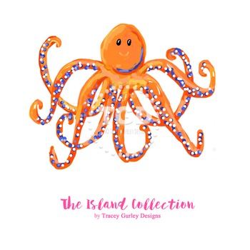 Preppy Octopus clip art - Tracey Gurley Designs