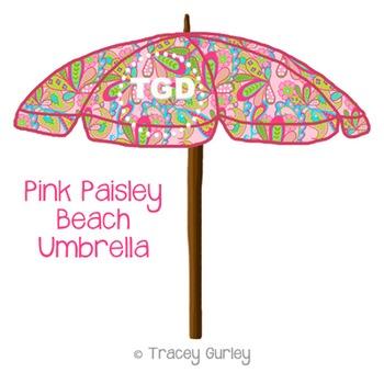 Preppy Paisley Beach Umbrella Printable Tracey Gurley Designs