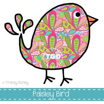 Preppy Paisley Bird Printable Tracey Gurley Designs