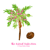 Preppy Palm Tree clip art - Tracey Gurley Designs