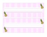 Preppy Pineapple Nameplate