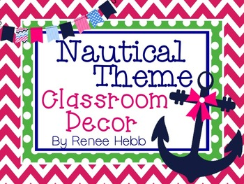 Preppy & Pink Nautical Classroom Decor