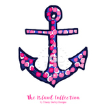 Preppy Pink and Navy Anchor Clip Art - Tracey Gurley Designs