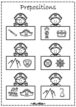 Preppy Pirate Prepositions- A Center Activity
