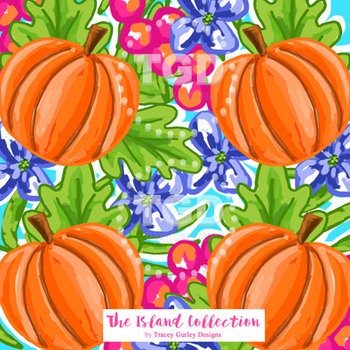 Preppy Pumpkin Design digital paper Printable Tracey Gurley Designs
