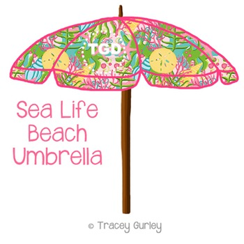 photo regarding Umbrella Printable named Preppy Sea Everyday living Beach front Umbrella Printable as a result of Tracey Gurley