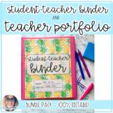 Preppy Student Teacher Binder & Teacher Portfolio BUNDLE