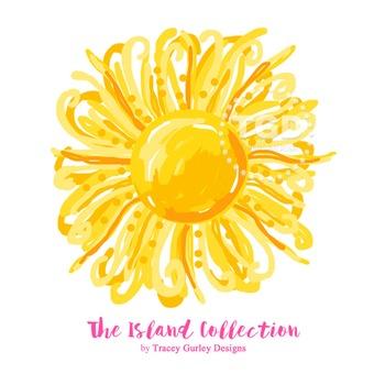 Preppy Sun clip art - Tracey Gurley Designs