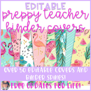 Preppy Teacher Binder Covers