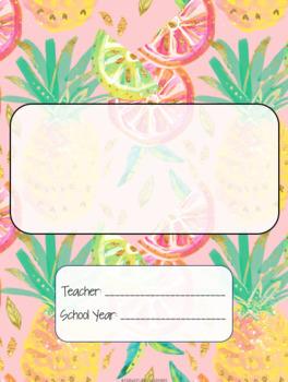 Preppy Teacher Binder Covers