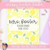 Preppy Teacher Binder - EVERYTHING YOU NEED!