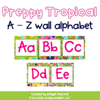 Preppy Tropical Lilly A to Z Wall Alphabet