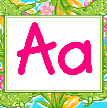 Preppy Tropical Lilly A to Z Wall Alphabet