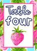 Preppy Tropical Lilly Table Numbers (1 through 8)