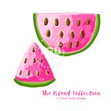 Preppy Watermelon clip art - Tracey Gurley Designs